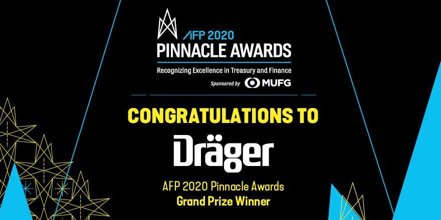 FX-Risikomanagement bei Dräger wurde mit AFP Pinnacle Award ausgezeichnet